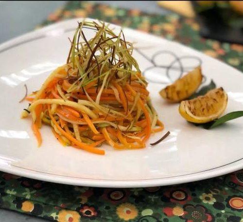 Espaguete de Cenoura e Abobrinha