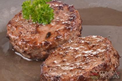 Hambúrguer artesanal de Picanha