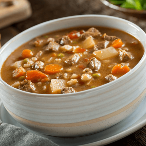 Sopa Cremosa de Carne e Legumes