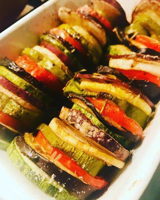 Mix 5- Legumes Assados Batata Doce, Berinjela e abobrinha